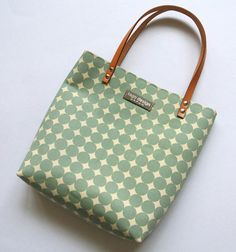 Canvas mini tote bag Mint dots by tagodesign on Etsy, $29.90