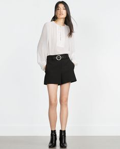ZARA - COLLECTION AW15 - SHORTS WITH BELT