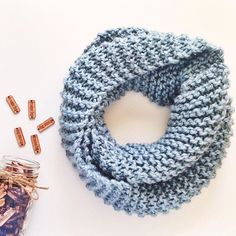 """I like to think of this scarf color as """"chilly""""! It's cold outside!! This frosty little scarf is just the thing to keep you warm and cozy!  See the link in my profile to shop!"""