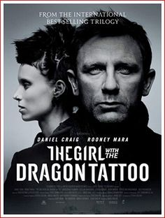"""The Girl With The Dragon Tattoo"" movie poster, American film"
