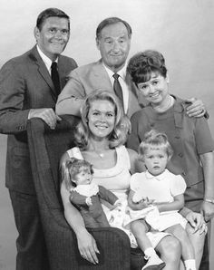 From Bewitched: The Stephens family with their neighbors Gladys and Abner Kravitz...