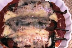 Mrs Ed's Research and Recipes: Chile Rellenos Con Pollo (SCD) Stuffed Chilies with Chicken