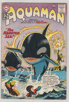 Aquaman Vol 1 5 Silver Age Comic Book. Dc Comic Books, Vintage Comic Books, Comic Book Covers, Vintage Comics, Aquaman Dc Comics, Series Dc, Silver Age Comics, American Comics, Dark Horse