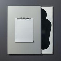"""""""Unlettered"""" 2015 / TOKYO TDC prize 2016 [ JPN / ENG ]artbook [ 26 sheets of poster ]"""