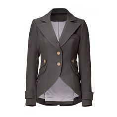Vintage Lapel Buttoned Elbow Faux Leather Spliced Swallow-Tailed Jacket For Women http://www.rosegal.com/jackets/vintage-lapel-buttoned-elbow-faux-286329.html
