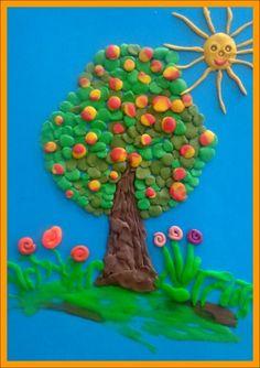 «Яблонька». Пластилинография (мастер-класс)