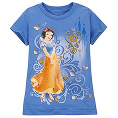 Gold Glitter Snow White Tee for Girls Toddler Outfits, Kids Outfits, Disney Outfits, Disney Clothes, Snow White Birthday, Disney Crossovers, Disney Princess Pictures, Shirts For Teens, Disney Merchandise