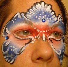 Patriotic Mask  Linda Schrenk/Amazing Face Painting by Linda, Jacksonville FL