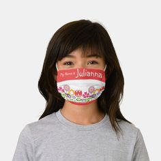 Personalized Flower Face Masks Kids Back to School - tap/click to personalize and buy #afflink #face #mask #for #school Back To School List, Best Face Mask, Face Masks, Mask For Kids, Masks Kids, Girls With Flowers, Shape Of You, Christen, Best Face Products