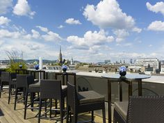 Open from May to end of summer. Sit back and discover our elegant Atmosphere Rooftop Bar with its magnificent view across the city center. Summer Scenes, Rooftop Bar, Top Destinations, Vienna Austria, Summer Breeze, End Of Summer, Hotels And Resorts, San Francisco Skyline, Backdrops