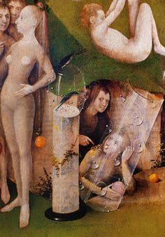 """Hieronymus BOSCH (1450-1516) : """"The Garden of Earthly Delights"""" (détail) - """"Le Jardin des Délices"""" (1503)."""