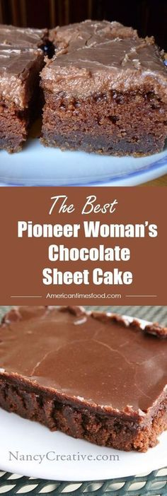 Pioneer Woman's Chocolate Sheet Cake – Delicious recipes to cook with family and friends. Pioneer Woman Cookies, Pioneer Woman Chocolate Pie Recipe, Texas Sheet Cake Recipe Pioneer Woman, Easy Texas Sheet Cake Recipe, Brownies Pioneer Woman, Sheet Cake Recipes, Pioneer Woman Desserts, Cherry Pie Recipe Pioneer Woman, Pioneer Woman Recipes