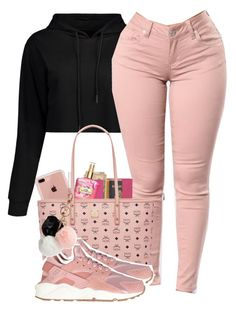 """""""Made by: @alexanderbianca"""" by gl0vibes ❤ liked on Polyvore featuring Belkin, Victoria's Secret, Royce Leather, MCM, NIKE and GUESS"""