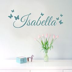 Beautiful Custom Name Wall Decals - Family Name Decals - Home Decor - Personalized - Wedding Sticker Decal