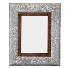 Faux Shagreen Photo Frame, Small - Taupe