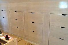 The custom maple drawers