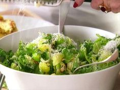 Brussels Sprout-Leaf Salad ~ serve with Mini Lasagnas with Corn and Mascarpone and Raspberry Ricotta Mousse