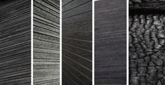 Shou Sugi Ban is an ancient Japanese exterior siding technique that preserves wood by charring it. Traditionally, Sugi, or Japanese Cyprus, . Wood Siding, Exterior Siding, Black Exterior, Charred Wood, Japanese Woodworking, How To Antique Wood, Architecture Details, Contemporary Architecture, Wood Projects