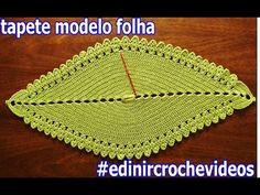 Aprender Croche - Dicas e vídeo-aulas em crochê grátis : Tapete em Croche Modelo Folha - Green Carpet Crochet Sheet