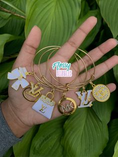 Arm Candy Bracelets, Bangle Bracelets With Charms, Bangles, Business Ideas, Business Women, Nail Bags, Custom Charms, Alex And Ani Jewelry, Block Lettering