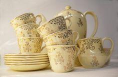 1950s Midwinter Chintz Brama Tea Set by Yonks on Etsy, $58.00