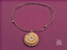 Palo Santo Copper-Set Necklace Inlaid Copper circles