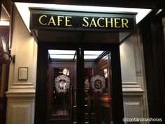 * Café Sacher *  # Viena, Áustria. Sacher, Shop Around, Coffee Shop, Travel, Places, Voyage, The World, Vienna, Traditional