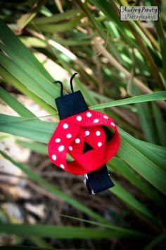 Ladybug clip for girls.  $4