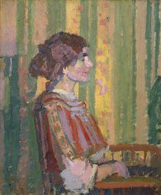 Harold Gilman - Stanislawa de Karlowska (Mrs Robert Bevan) Yale Center for British Art Plant Illustration, Botanical Illustration, Art Nouveau, Oil On Canvas, Canvas Prints, Painting Courses, Camden Town, Camden Group, Impressionist Artists