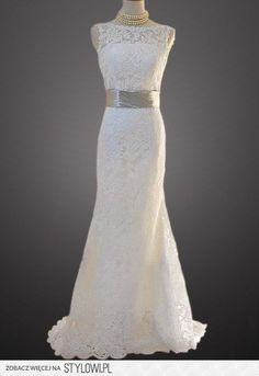 Vintage Lace Wedding Dress Bridal Gown Deep V Neck