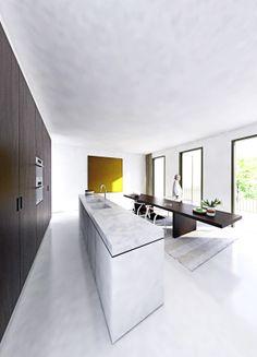 Kitchen inside the Veemarkt house by NOMAA|architectuur&interieur.