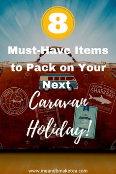 8 things to pack on a caravan holiday that you might not have thought of!   Having been on quite a fewcaravan holidays now, I feel equipped to tell you what extras you should pack to ensure a super-duper, comfy few days away. We've been fortunate to have stayed in someverylush caravans this year but there are still a few home essentials that I recommend you pack.