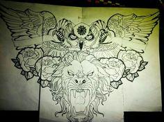 Idea for chest tattoo design