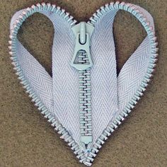 Items similar to A Zipper Heart Brooch - In Mint on Etsy