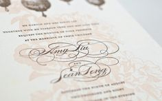 Amy and Sean | Luxury Wedding Invitations : Custom | Atelier Isabey