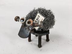 Steel Wool Sheep - Woolly Scrap Metal Sheep