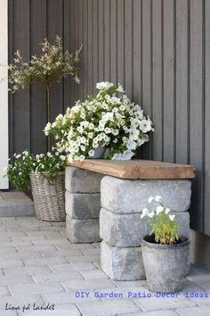 45 Gorgeous Patio Garden Furniture Ideas – Patio Furniture – Ideas of Patio Furn… - Easy Diy Garden Projects Backyard Projects, Garden Projects, Garden Ideas, Diy Projects, Outdoor Projects, Garden Inspiration, Brick Projects, Garden Guide, Furniture Inspiration