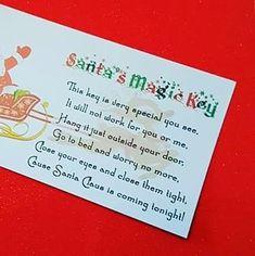 Make a magic Santa Key - Mamma & Bear