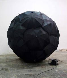 Ball of umbrellas.