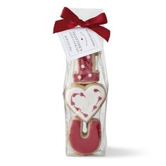 Williams Sonoma Hearts & Letter Iced Cookies