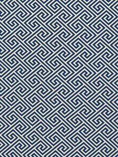 Schumacher - St. Tropez - Navy  tessellation or pattern with 1 line?