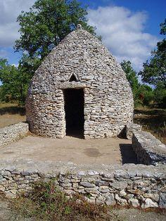 """Borie"" dry-stone hut, Gard. France"