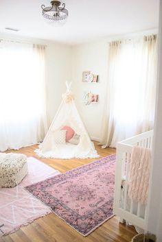 Whimsical, Bohemian Girl's Nursery (via @laurmcbrideblog)