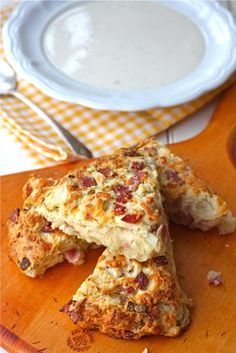 Ham and Cheese Scones. From scratch, cooks at 400 for around 30 minutes. Would be great served with a hearty dinner salad.