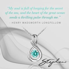 Add a flair of elegance to everyday life with the striking and memorable infinity pendant with a dancing aquamarine gemstone at it's heart. Come in store or shop these styles online at http://www.stephensjewellers.com.au/brand/stephens?category=&stone_type=&metal_type=&search_query=&gender=&promotion= #Stephensjewellers #Jewellery #Gold #Rings #Aquamarine http://www.stephensjewellers.com.au/