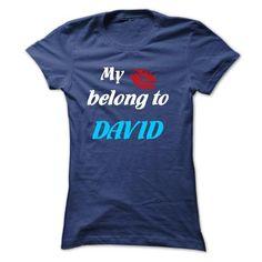 Awesome Tee My Lips belong to DAVID 2015 Shirts & Tees