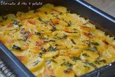 Timbale of rice and potatoes Risotto Recipes, Rice Recipes, Potato Recipes, Veggie Recipes, Casserole Recipes, Cooking Recipes, Chicken Wing Recipes, Potato Dishes, Antipasto