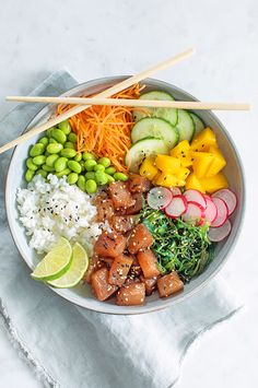 Poke Bowl, Plats Healthy, Cooking Recipes, Healthy Recipes, Amish Recipes, Dutch Recipes, Salad Recipes, Clean Eating, Healthy Eating