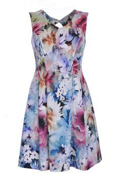 Suknia w kolorowe kwiaty | Kolekcja wiosna/lato 2015  Sukienki Sukienki na wesele Sukienki PRZECENA | Producent odzieży damskiej i sklep online DanHen