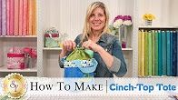 How to make a cinch top tote